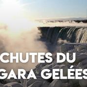 Les chutes du Niagara gelées par le froid extrême qui touche l'Amérique du nord