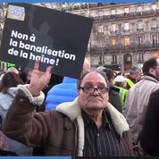 Des milliers de personnes manifestent contre l'antisémitisme à Paris