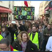 Arrivée des «Gilets Jaunes» au Sacré Cœur à Paris