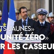«Gilets jaunes»: Castaner «demande une impunité zéro» aux forces de l'ordre