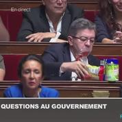 Zapping TV : quand Jean-Luc Mélenchon vide son sac de courses à l'Assemblée nationale