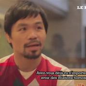 Manny Pacquiao tient des propos homophobes en plein campagne sénatoriale
