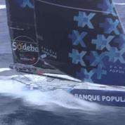 Des images uniques des leaders du Vendée Globe tournées au large des iles Kerguelen