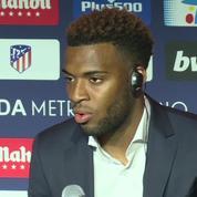 L'atletico Madrid présente son champion du monde français Thomas Lemar