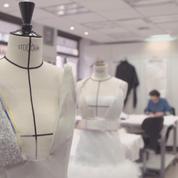 Secrets d'ateliers : la robe à broderies florales Chanel haute couture printemps-été 2017