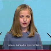 La princesse Leonor d'Espagne a fait sa première intervention publique