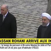 Hassan Rohani arrive aux Invalides