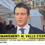 Remaniement : Valls salue le retour d'Ayrault au gouvernement