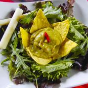 Mesclun au guacamole