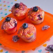 Cupcakes myrtille violette