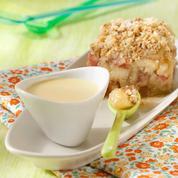 Crumble pommes - rhubarbe et sa crème anglaise