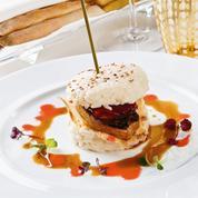 Sandwich de riz et foie gras