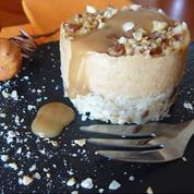 Cheesecake à la courge, crème de marrons