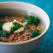 Lentilles et kale à la crème d'ail