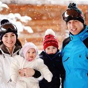 Le prince William, Kate Middleton et leurs enfants en vacances dans les Alpes