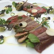 Galette d'anchois poivrons rouges et aubergines