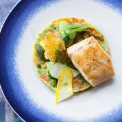 Loup sauvage aux courgettes