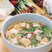 Kimch'i aux légumes coupés