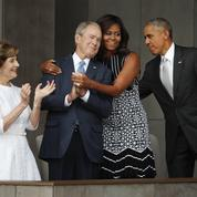 Michelle Obama : son câlin à George W. Bush enflamme le Web
