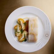 Lieu jaune au naturel, Artichauts et pommes de terre