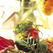 Courgettes rondes farcies aux légumes