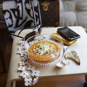 Crème de potimarron quinoa et cottage cheese