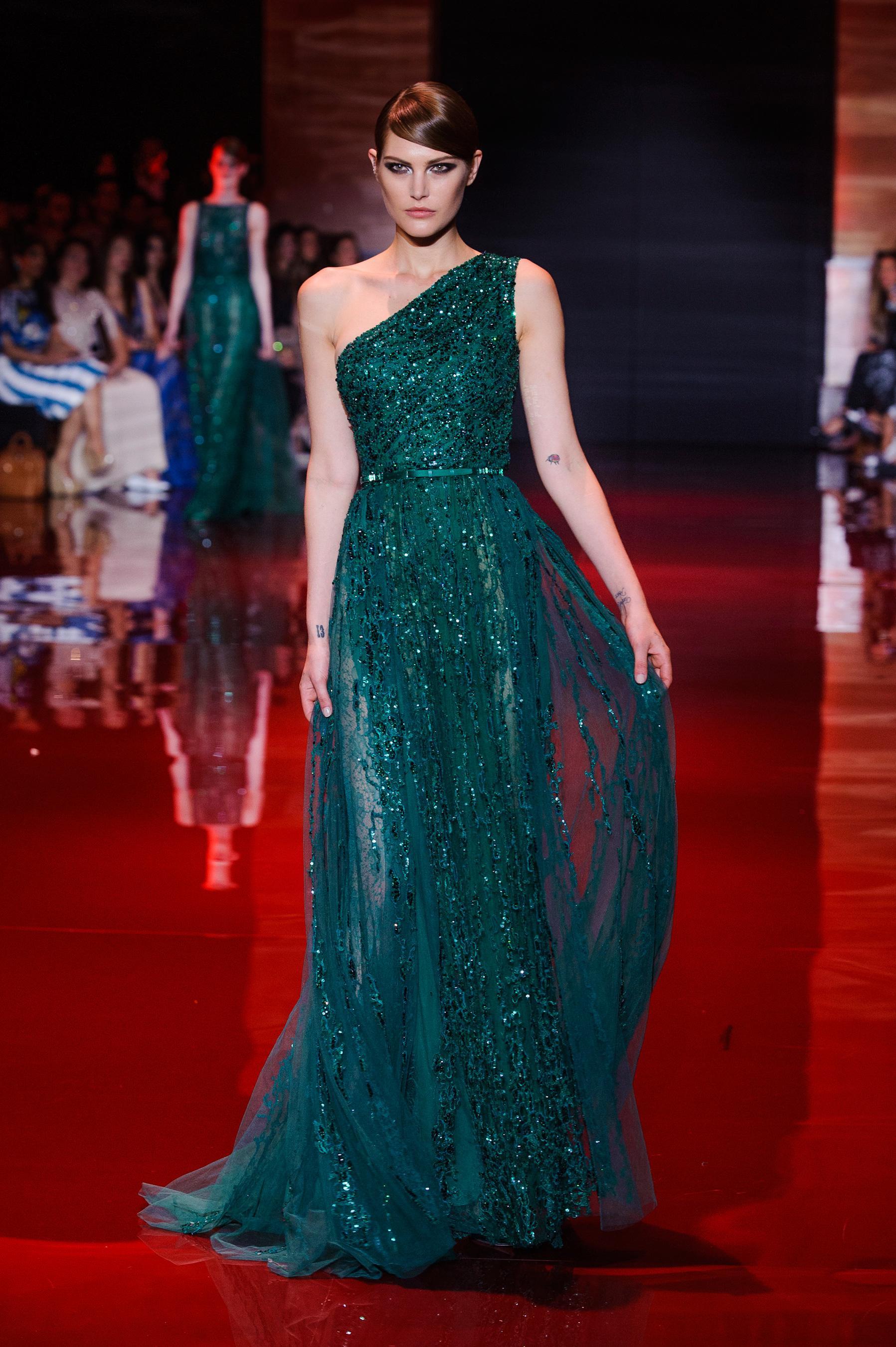 D fil elie saab automne hiver 2013 2014 haute couture for 1900 haute couture