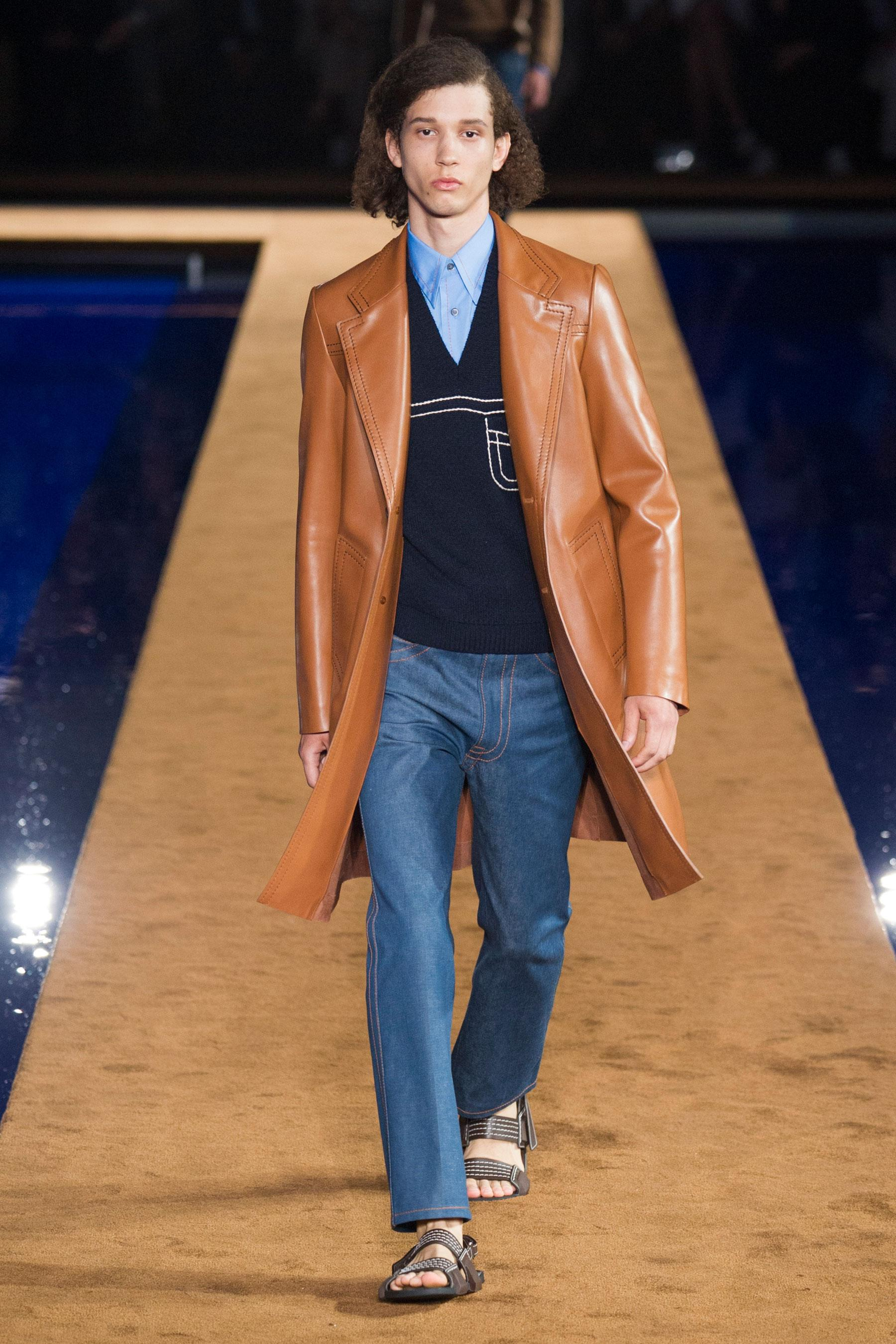 Prada veste cuir homme