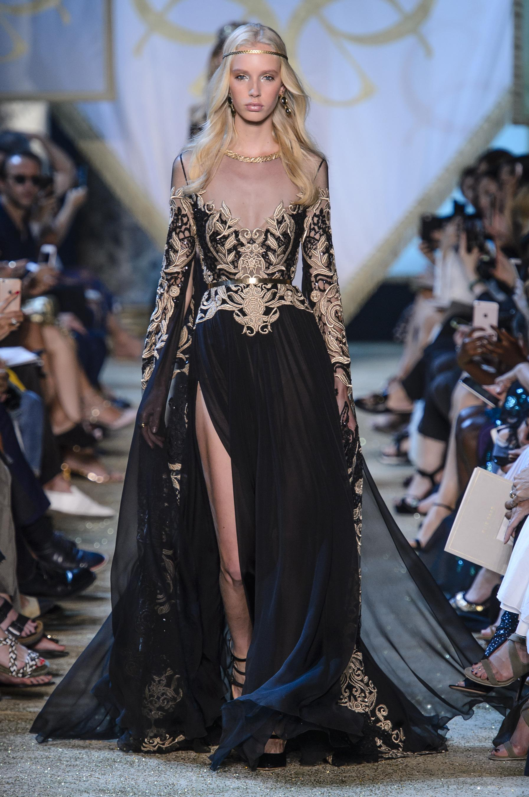 Defile Elie Saab Automne Hiver 2017 2018 Couture Madame Figaro
