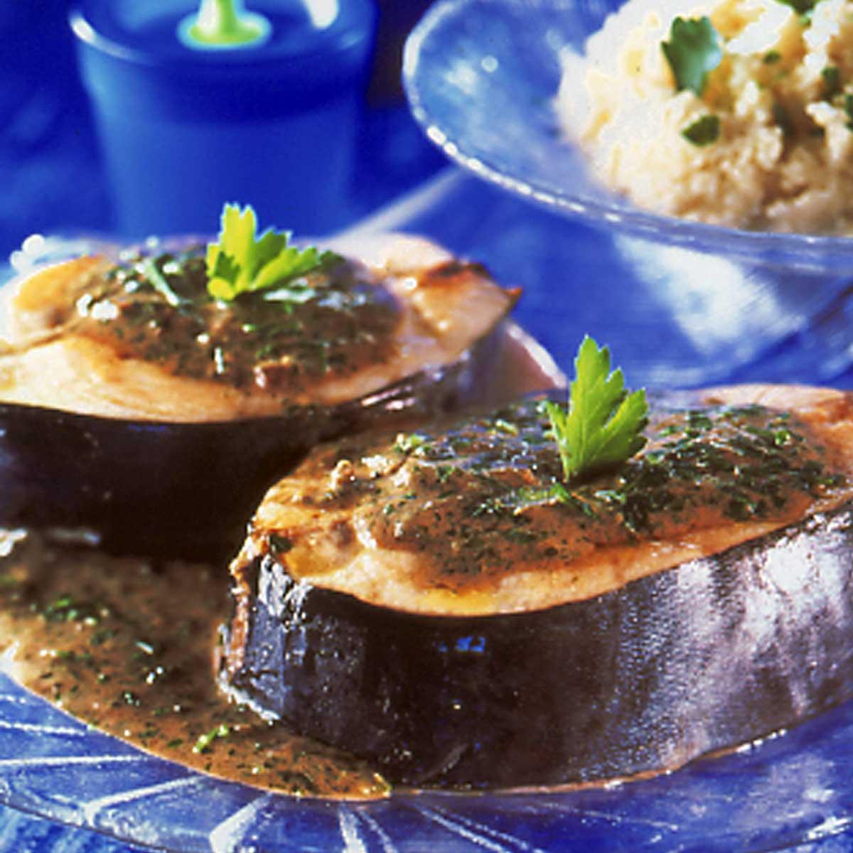 Recette Thon Poêlé Au Beurre De Persil Cuisine Madame Figaro - Cuisiner du thon