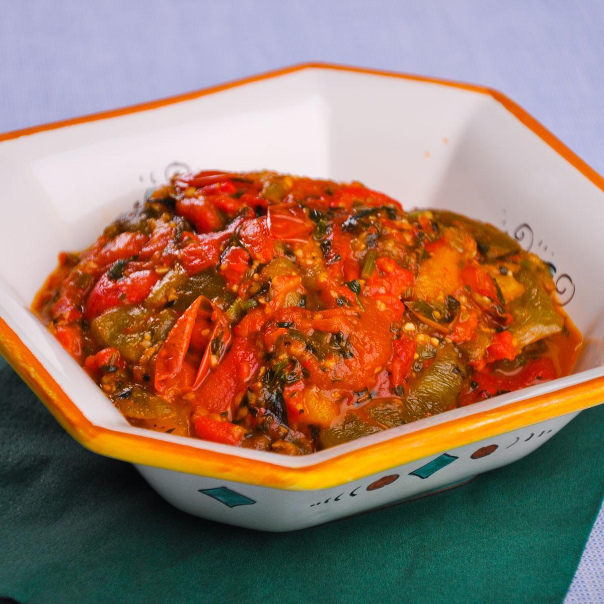 recette salade marocaine aux poivrons cuisine madame. Black Bedroom Furniture Sets. Home Design Ideas