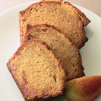 cake aux poires caram lis es une recette cake cuisine. Black Bedroom Furniture Sets. Home Design Ideas