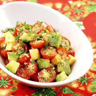 Recette avocat et tomates cerises au cumin cuisine madame - Idee recette avocat ...