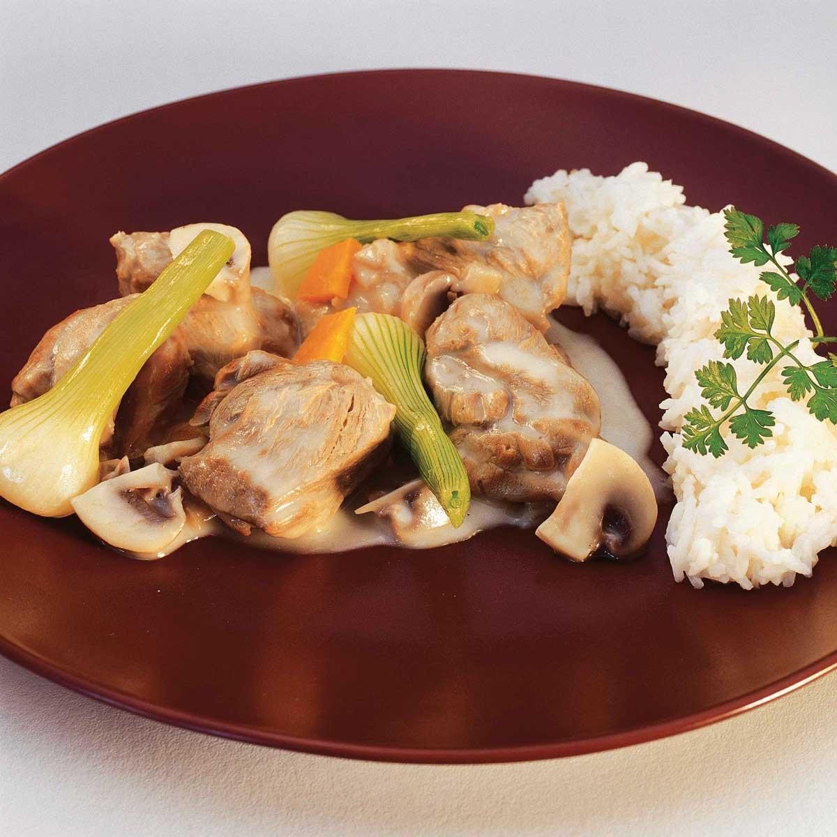 Recette blanquette de veau l 39 ancienne cuisine madame figaro - Recette de cuisine blanquette de veau ...