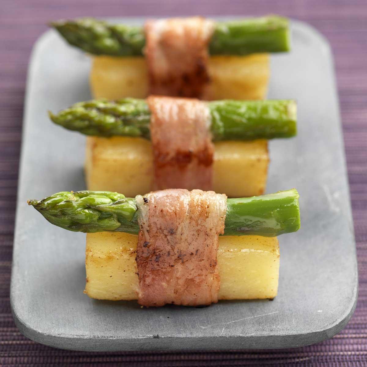 Recette pomme de terre en sushi d 39 asperge au lard for Entree froide chic