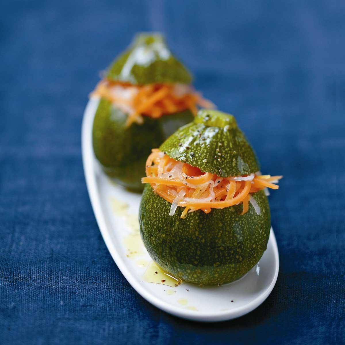 Recette courgettes rondes farcies - Cuisine / Madame Figaro on
