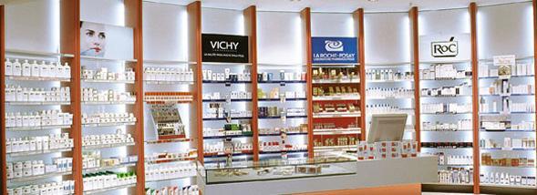 Cosmétiques vendus en pharmacie : Bioderma et Vichy, en