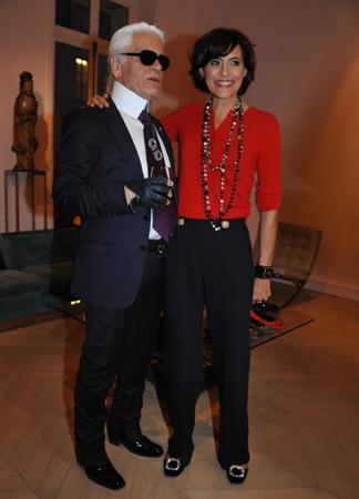 Karl Lagerfeld et Inès de la Fressange.
