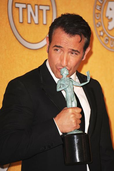 Sag awards jean dujardin the artist of the year for Dujardin the artist