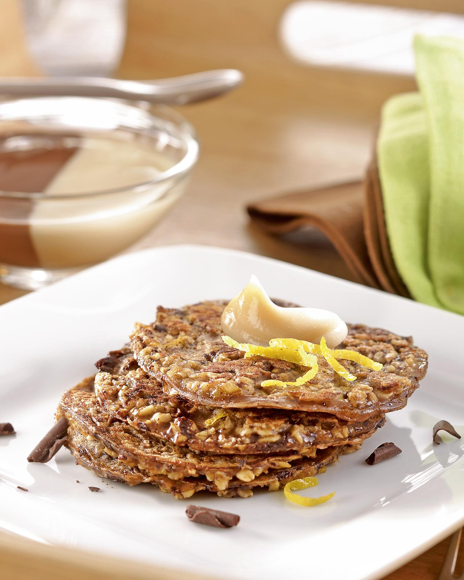 recette petites galettes au chocolat flocons et lait d avoine