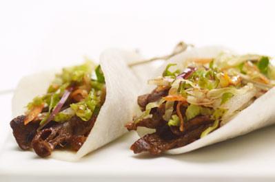 Recette roul s de b uf au jicama et salade de nashi cuisine - Duree cuisson cote de boeuf ...