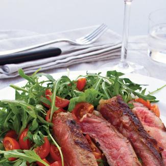 Recette tagliata accompagn e de roquette et de tomates cerises - Duree cuisson cote de boeuf ...