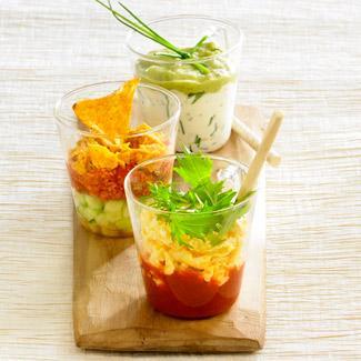 Recette trio de verrines mexicaines cuisine madame figaro - Recette amuse bouche rapide ...