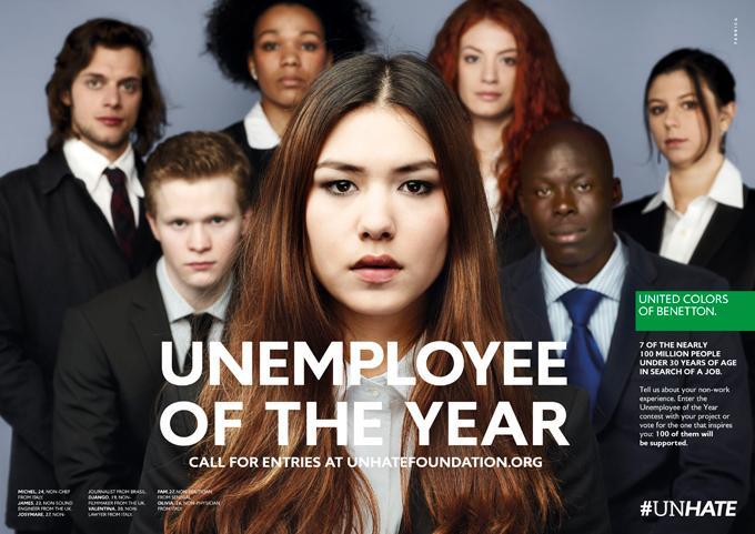 Benetton redore l'image des jeunes sans emploi  Le Figaro Madame