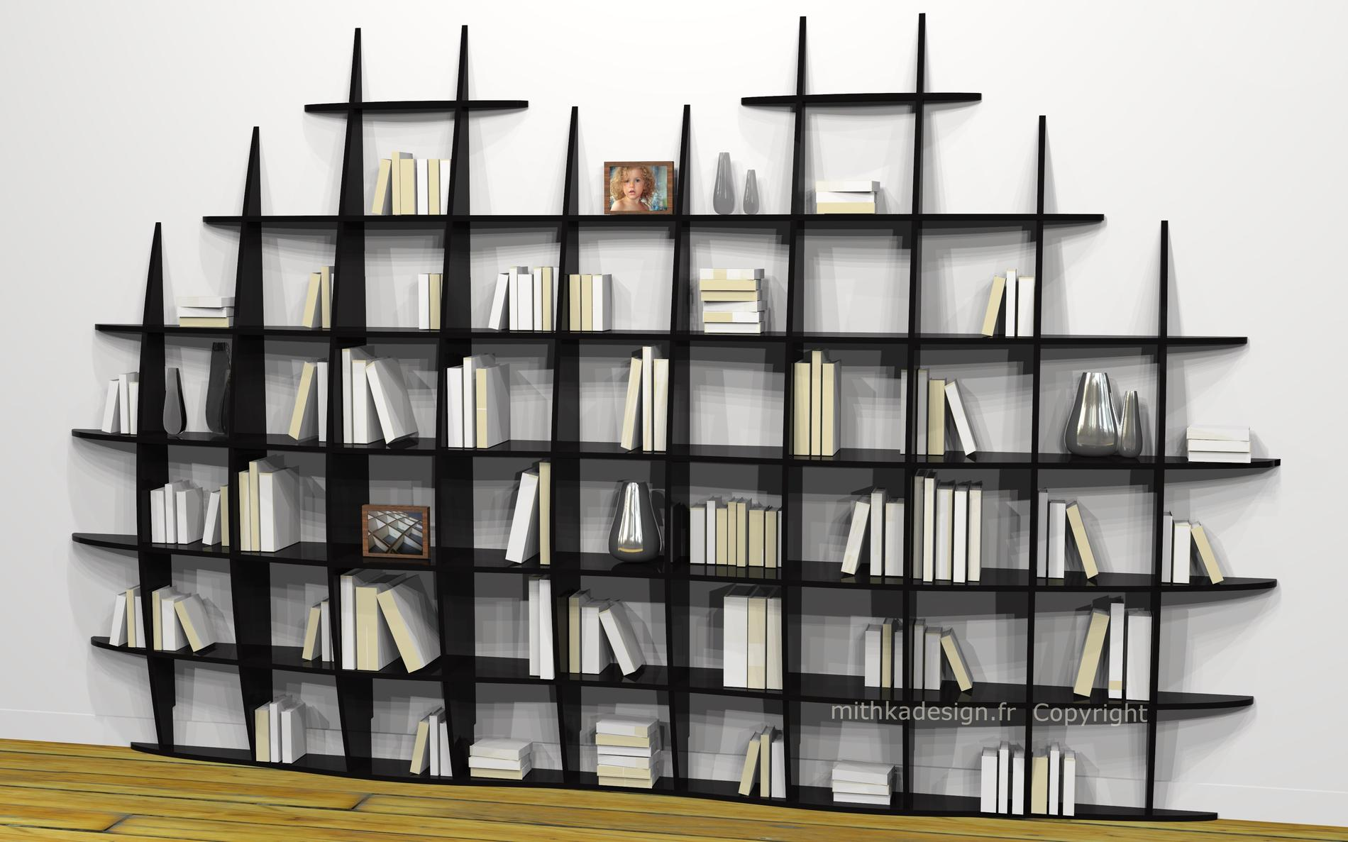 une biblioth que design dans mon salon madame figaro. Black Bedroom Furniture Sets. Home Design Ideas