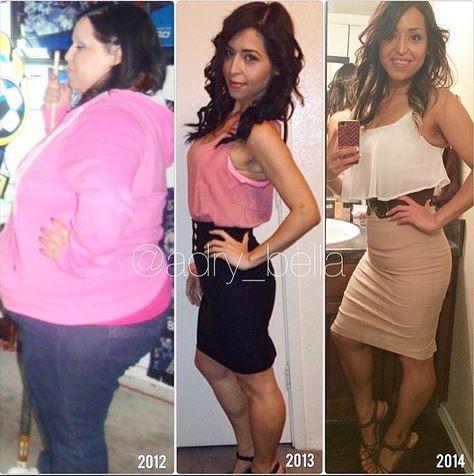 Avant/après : comment les femmes immortalisent des pertes