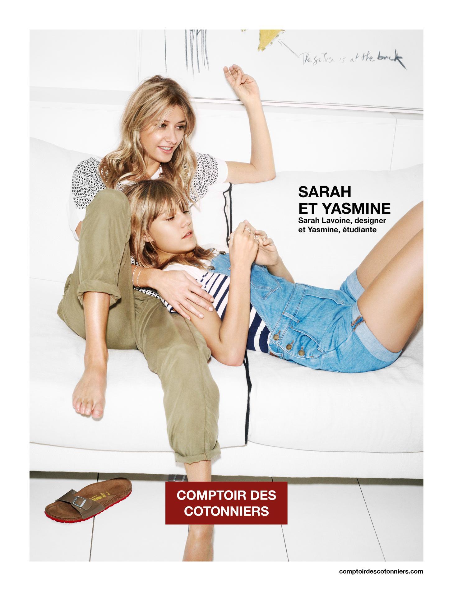 Sarah et yasmine lavoine un duo de charme pour comptoir des cotonniers le figaro madame - Le comptoir des cotoniers ...