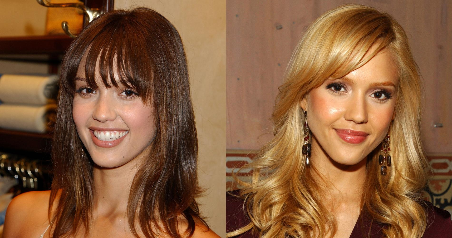 du brun au blond ces stars qui ont cd la tentation jessica alba - Coloration Brune A Blonde