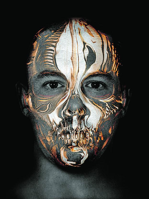Skull and Lee, de Gary James McQueen, portrait d Alexander McQueen réalisé  pour l invitation de son défilé été 2009. 1645c1f950c