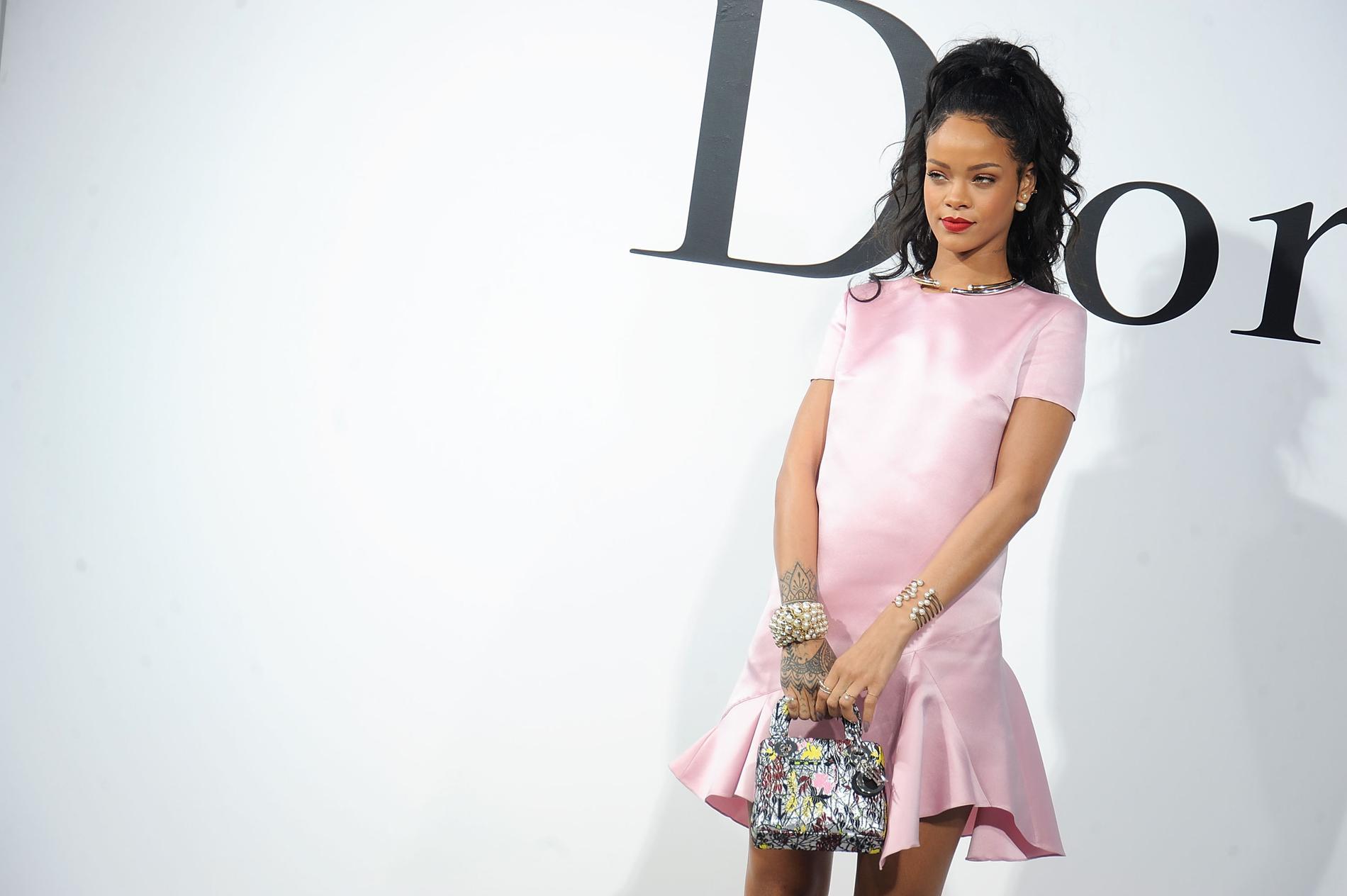 35e364b531853d Rihanna au défilé Christian Dior Croisière 2015. (New York, le 7 mai 2014.)